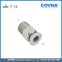BPC series threaded straight clean type one touch fittings