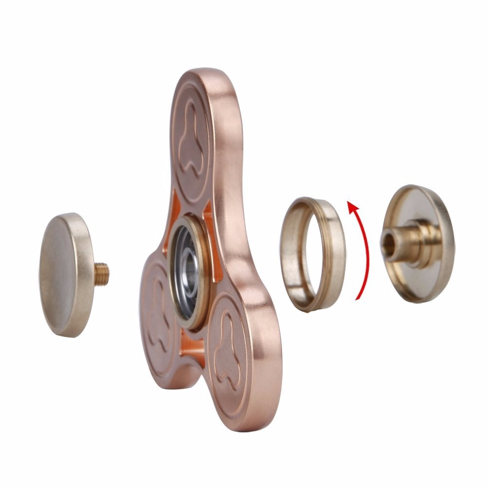 High Quality Precision CNC Brass Fidget Spinner Funny Toys Brass Hand Spinner