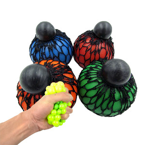 Yiwu TPR Mesh Squeeze Ball With Cap For Adults Stress Squish Relief Toys