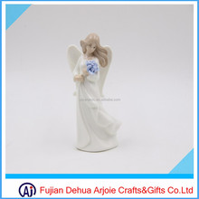 colorful ceramic porcelain angel figurine