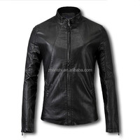 Wholesale OEM Custom Made Slim Fit Spring Windproof Waterproof Motorcycle Jacket Mens PU