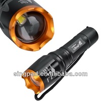 2014 new style UltraFire 5-Mode CREE T6 LED Flashlight Torch aluminum materila made in china
