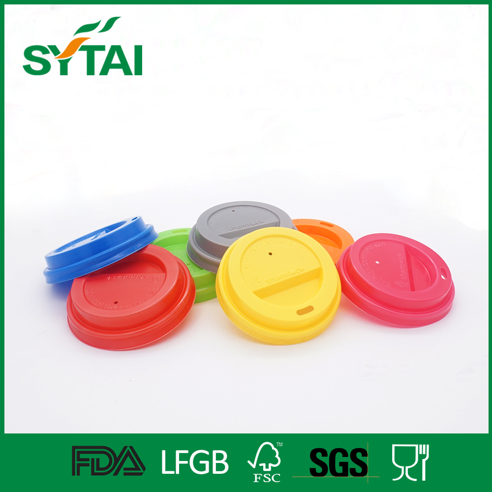 Wholesale many sizes colorful biodegradable plastic cup cover