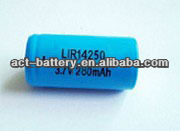 ICR14250 1/2AA 3.7V 280mah Rechargeable Lithium ion battery 14250