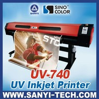 Sinocolor Smaller Type UV Roll to Roll Digital Printer UV740 for Soft Film Printing