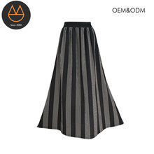 Printed women stripe dress casual ladies long maxi skirts fashion design