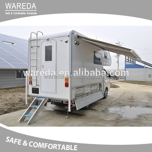 waterproof Camping Trailer Top Awning Tent with strong aluminum alloy