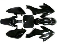 7 PCS Black Plastic Fairing For Honda CRF XR 50 CRF 125cc SSR PRO Pit Dirt Bike