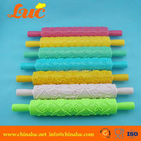 Modern best selling colorful glazed dough rolling pins