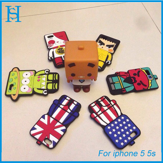 cute cartoon 3D cell phone case for iphone 5 5s shell phone cover