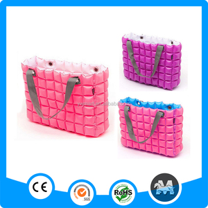 Customizable fashion inflatable bubble hand bag,small pvc bag waterproof,pvc inflatable handbag