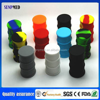 2015 Popular silicone dab oil barrel for wax oil