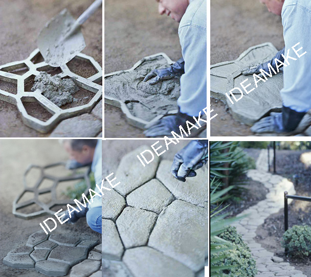 Plastic Concrete DIY Pavement Mould concrete molds plastic New pathway maker mould DIY pathway stone mold