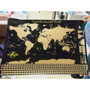 Include Gift Map Scratch Off World Map Poster World Map Scratch