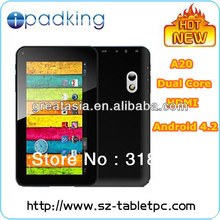 China tablet supplier 7 a20 7 inch dual core a20 tablet / ipadking android 4.2 tablet / high quality mid tablet 7inch