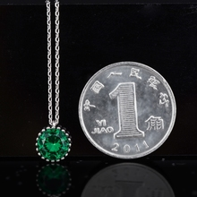 customize May loose gems emerald silver necklace chain