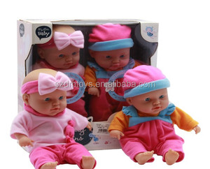 Wholesale Big head inflatable indian baby doll toy