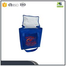 Custom Logo Print Insulated Polyester Cooler Bag For Frozen Food