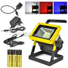 4.2V 10w Rechargeable LED Flood Light With 3 PCS 18650 Battery