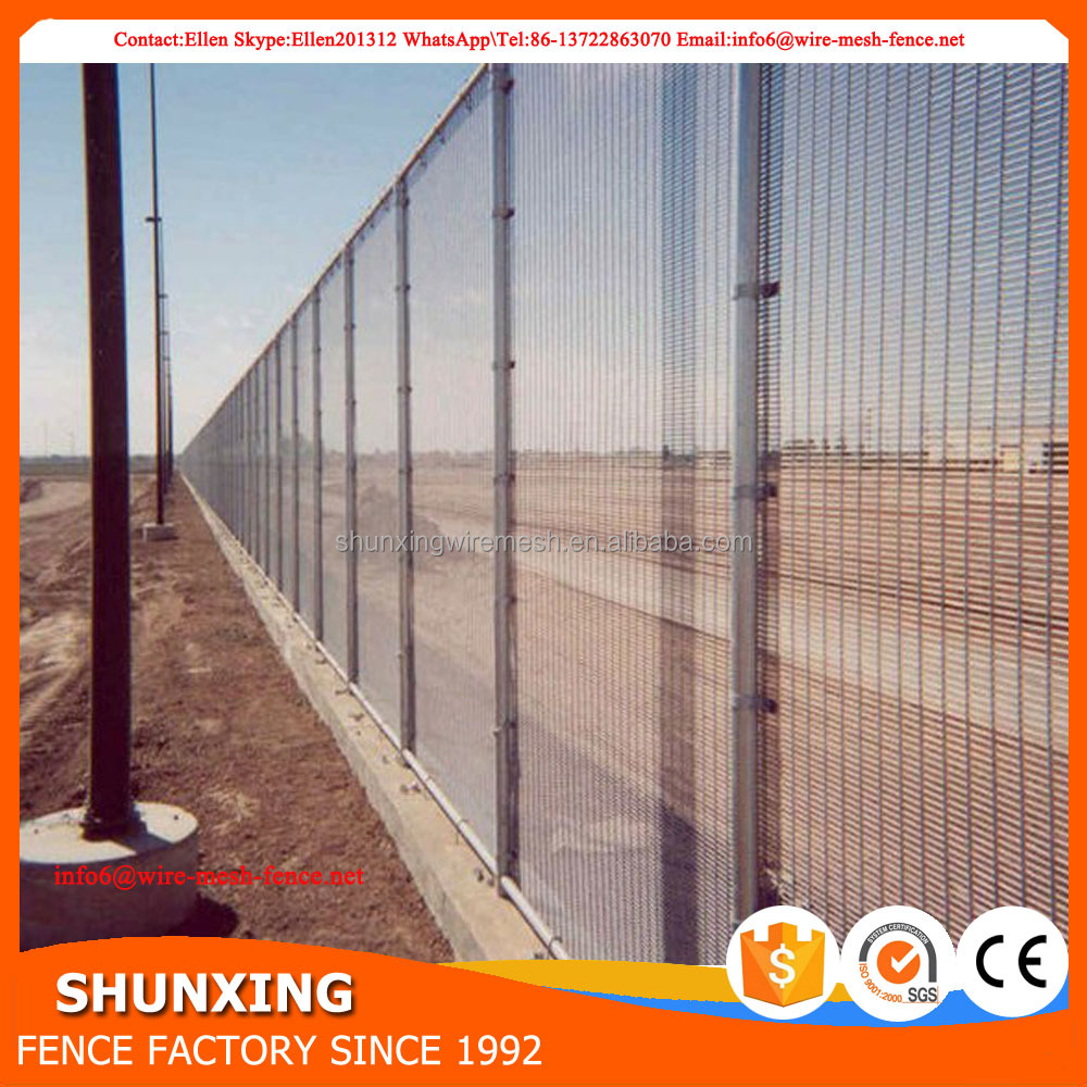 Extremely simple to install galvanized 358 high security iron fence panel