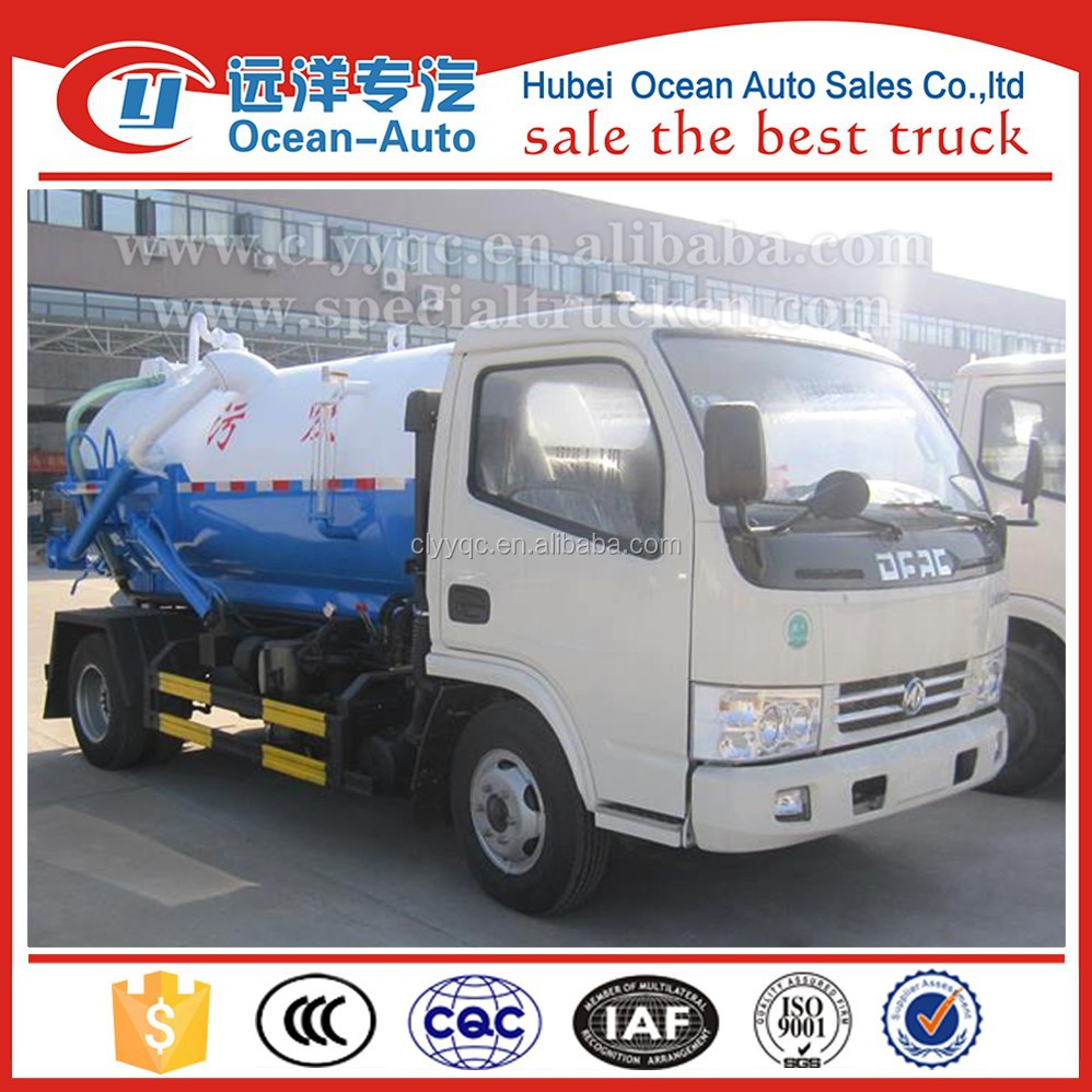 Dongfeng small mini sewage suction sludge transportation truck