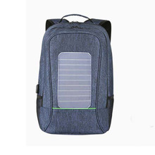 Wholesale usb charger sun power back pack bag panel solar backpack bag with powerbank