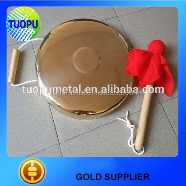 China supplier metal goog antique brass gong for sale
