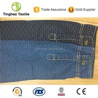 100% Cotton Indigo Printed Denim Fabric For Shirt