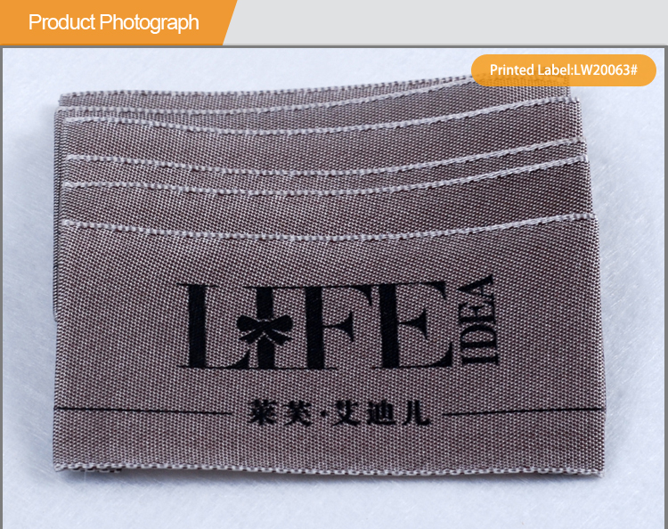 Customized Woven Labels Brand Printed Clothes Label LW20063