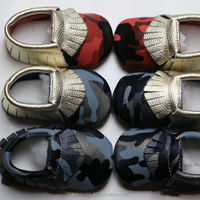 Factory Wholesale Kids Camouflage Moccasin Shoes