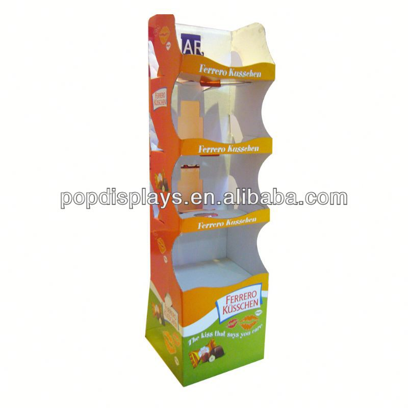 2013 Beautiful case phone cardboard display stand with hooks with different floors