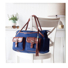 1DP0359 Wholesale Fashion Blue Nylon Tote Storage Baby Diaper Bag Organizer For Mummy Outdoor Travel