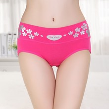 Middle waist sexy ladies in panties printing micro women under panties fashion women panties