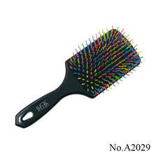 A2029 Magic Hot Selling Rainbow Volume Anti-static Magic Hair Curl Straight Massage Comb Brush Styling Tools