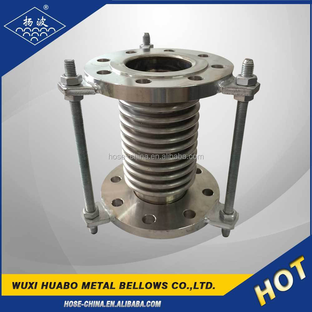 Stainless bellow expansion joint with flange