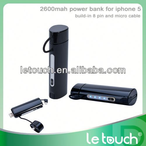 UNIQUE USB Back up power pack 2600mAh for iPhone 5/Samsung