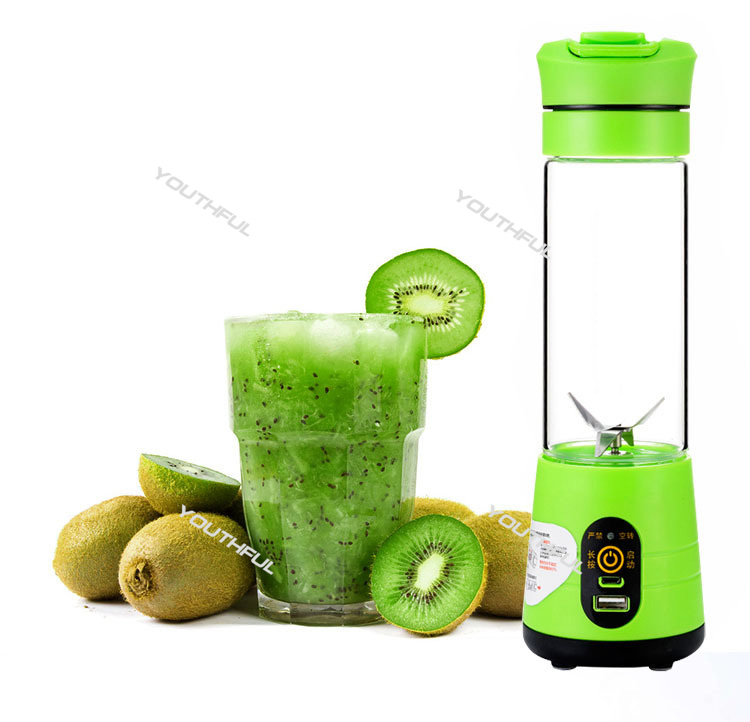 New Version 450mL Portable Juicer Cup Rechargeable Smoothie Blender