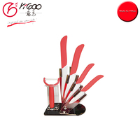 101638 Kitchen Ceramic knife and peeler set with holder