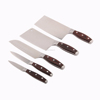 Durable 5cr15mov Chinese 5pc cleaver knife set with pakka wood handle for kitchen cutting