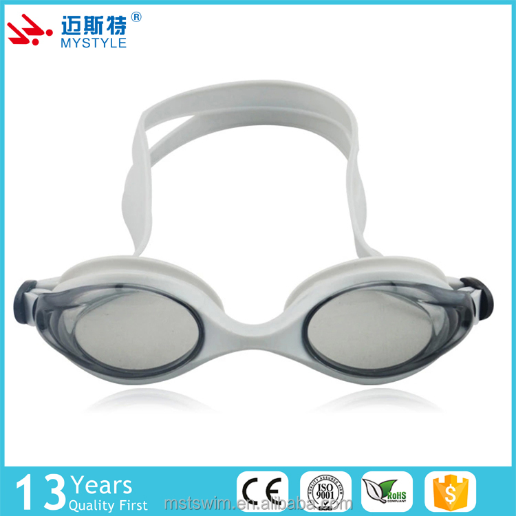 Competitive price hot sell silicone strap pvc swimming goggle