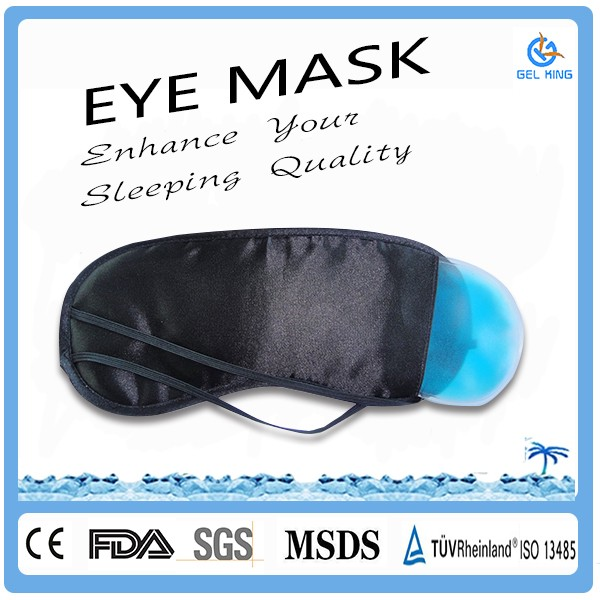 Cool Unisex Free Sample Health Care Ice Massage Black Out Eye Gel Mask/Sleeping Gel Eye Mask