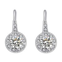 Fashion Jewelry Making Supplies White Gold Plated Simple Design Earrings