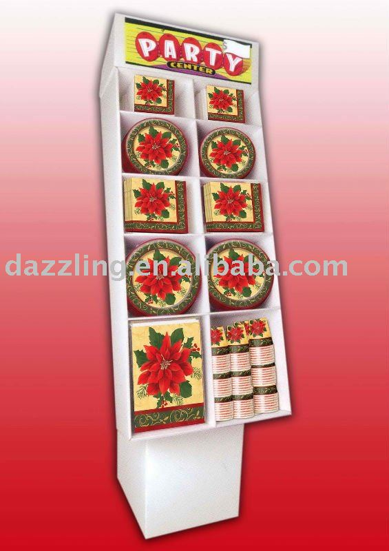 Disposable Partyware - Dump Display - Christmas Poinsettia