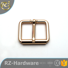hot sale fashion brass colour square decorative pin shoe buckles for belt