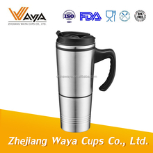 Wholesale promotion custom LOGO vacuum thermos stainless steel coffee travel mug with lid