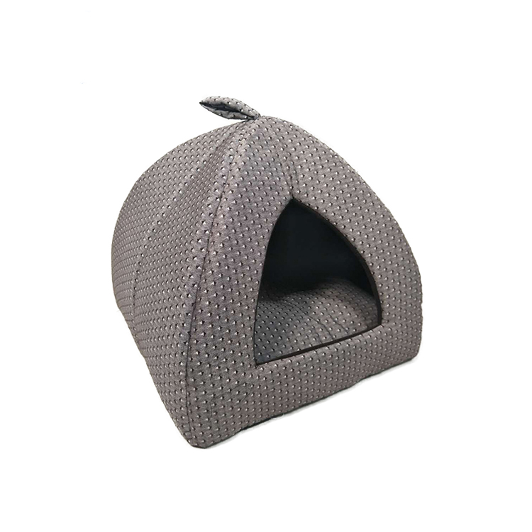 Indoor Mini Roof Shape Soft Material Cotton Plush Felt Cat Cave Bed For Kitten