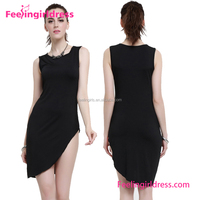 Sample Free Women Sexy Black Mini Japanese Prom Dress