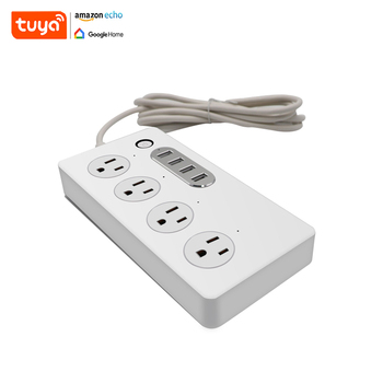Tuya Smart Home System 4 AC Outlets Smart Switch Power Strip Socket