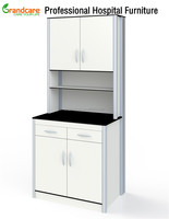 G-FT008 Medical Storage Cabinet Wall Mounted With Work Table Used For Hospital Lab Clinics
