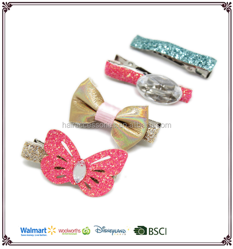 Bling Bling Hair Clips, Blink Kids Hair accessories Set, Glitter Hair Clips